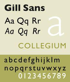 Gill Sans (1926):  Benetton Group nelle sue insegne, sulla segnaletica delle stazioni della metropolitana di Londra ed è da metà anni '90 la base di buona parte dei loghi e delle grafiche della BBC..... In corporate MEDIASET
