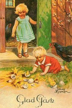 Happy Easter Jenny Nystrom (1854 – 1946, Swedish)