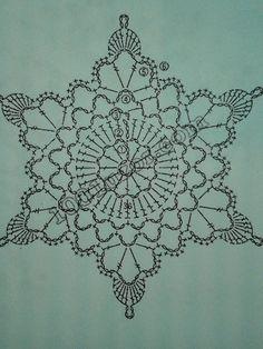Szydłaki Cudaki - Amigurumi - Handmade with love: grudnia 2015 Crochet Snowflake Pattern, Crochet Rug Patterns, Christmas Crochet Patterns, Holiday Crochet, Crochet Snowflakes, Tatting Patterns, Crochet Motif, Crochet Christmas Decorations, Crochet Ornaments