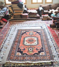 Vintage 4.6 x 6.8 Hand-Knotted Persian Rug by DamavandTradingCo