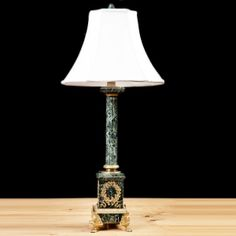 French Empire Style Lamp in Marble and Bronze