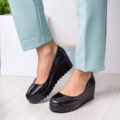 Pantofi dama cu talpa ortopedica negri Antic