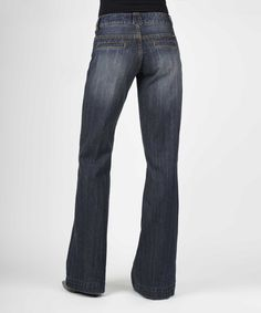 Look at this Stetson Dark Blue City Trouser Jeans - Women on #zulily today!