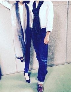 Air fuwa by I.P.P シフォン段染めストール #ベージュ×ブラック  シフォン迷彩ストール #グリーン×ブラック
