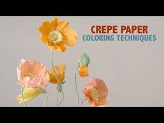 Crepe Paper Techniques - Color - YouTube