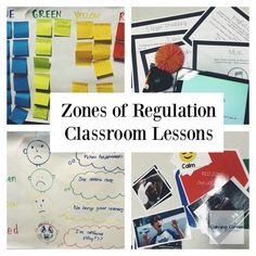 4 class or small group lessons for teaching the zones of regulation Zones Of Regulation, Emotional Regulation, Self Regulation, Elementary Counseling, School Counselor, Career Counseling, Elementary Schools, Social Emotional Learning, Social Skills
