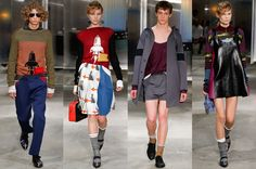Miuccia Prada unveiled her Spring collection for men