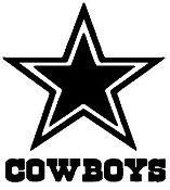 New Custom Screen Printed T-shirt Dallas Cowboys Football Small