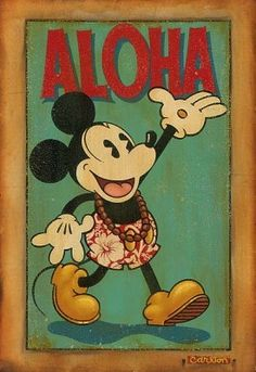 vintage hawaiian mickey