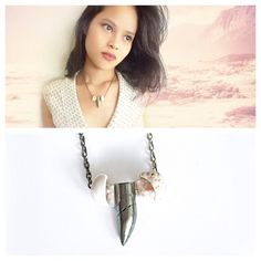 Pyrite Horn Puka Shell Necklace