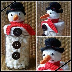Sneeuwpop snoeppot