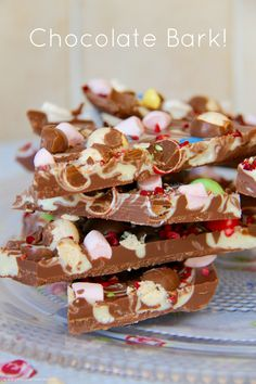 Chocolate Bark - Really easy yet delicious Chocolate Bark – Perfect Idea for Home-Made Gifts, or a little treat for yourself!