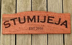 House sign example Australian red gum engraved timber cut with curve top Design your new home sign to feature your home sweet home