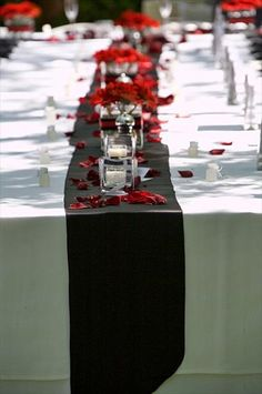 Red White  and black Reception Decorations | Red & Black Wedding - The Knot