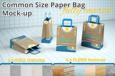 Shopping Paper Bag Mockup by illiachenvar on Creative Market