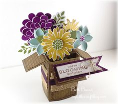 Flower Patch Card in a Box.  Stampin Up!.  by My little craft blog: The Stamp Review Crew: Flower Patch