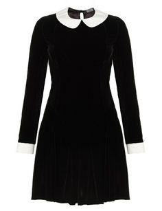 Black Velvet Ophelia Dress - I just bought something so similar to this for $30!!Wooo!