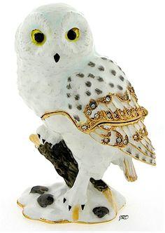 Tan Owl Trinket Box