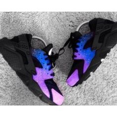 Nike Air Huarache Magic Galaxy Royal Blue Purple Trainer Excellent quality, absolutely genuine, welcome to choose. Cute Sneakers, Sneakers Mode, Sneakers Fashion, Shoes Sneakers, Sneakers Workout, Sneakers Adidas, Vans Shoes, Fashion Shoes, Nike Shoes