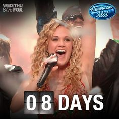 Today's the 8th, which means 8 more days until the next Idol is chosen!