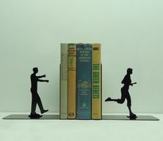 These Zombie Bookends Act Out a Hungry Zombie Scene trendhunter.com