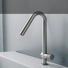 Treemme Einhebel-Waschtischmischer 22mm | für Rechthandbedienung  | Design OCO Studio | edelstahl gebürstet