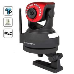 H.264 Wireless Motion Detection IP Camera with Angle Control, IR Cut, Micro SD Card Recording, Nightvision and Two Way Audio