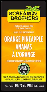 Orange Pineapple Bar - Sweet and delicious! #DairyFree #GlutenFree #CoconutMilk #ScreaminBrothers
