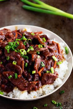 Slow Cooker Mongolian Beef.  This is so simple and so yummy!