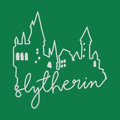 Shop Slytherin Hogwarts Castle slytherin t-shirts designed by MouseketeersandButterbeers as well as other slytherin merchandise at TeePublic. Arte Do Harry Potter, Harry Potter Friends, Harry Potter Drawings, Harry Potter Tattoos, Harry Potter World, Slytherin House, Slytherin Pride, Hogwarts Crest, Slytherin Aesthetic