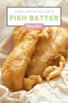 I bet you have always wanted to make Long John Silvers fish recipe, now you can with this copycat recipe. You can recreate this crispy fish batter at home. What makes this recipe unique, is that the fish is crispy, but it isn't done with a beer batter. Club soda is the key ingredient that makes this batter extra special. The batter has both baking soda and baking powder in it, and when combined with the club soda, it gives the batter a special lift you will love. Copykat Recipes, Cod Recipes, Seafood Recipes, Cooking Recipes, Chicke Recipes, Restaurant Recipes, Yummy Recipes, Yummy Food