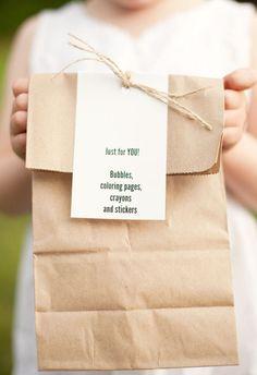 cute kids favor bag.