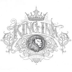 """""""King Ink"""" pencil sketch. I look forward to now turn to the computer for further development and fine tuning"""