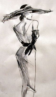 French Fashion theme photo and artwork Illustration Mode, Fashion Illustration Sketches, Art Drawings Sketches, Fashion Sketches, Fashion Design Drawings, Fashion Artwork, Fashion Painting, Themes Photo, Fashion Themes