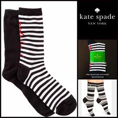2 Pairs of Kate Spade Trouser Boot Socks  NEW WITH TAGS   2 Pairs of Kate Spade Trouser Boot Socks  * Super soft & comfortable fabric * Opaque Knit construction (not sheer). * Stretch-to-fit * One size fits most; Pull on & to the mid calf style ****The Kate Spade socks on the model in the cover photo are for styling purposes only & to show length. *** Fabric: 63% Cotton, 35% Polyester & 2% spandex; Machine wash Color: Black White Red combo  No Trades ✅Bundle Discounts✅ kate spade Accessories…