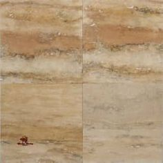 Rainbow Vein Cut Honed and Filled Travertine Floor | Los Angeles