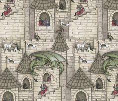 Turrets Syndrome fabric by ceanirminger on Spoonflower - custom fabric