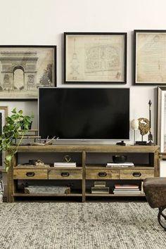 Modern Farmhouse TV Stand Decoration Ideas (13)