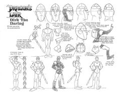 Dragon's Lair - Dirk production sketch
