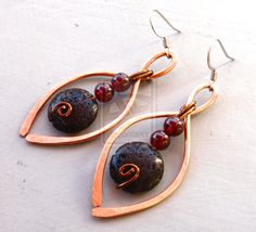 Red and Black Earrings by ~LilithLynx on deviantART
