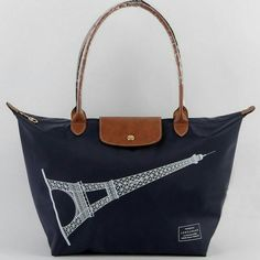 Pre Order - Longchamp Le Pliage Eiffel Tower Tote Bag Navy for  170 on  Carousell Cheap b43a4a4262aed