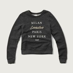 Abercrombie & Fitch London Logo Graphic Sweatshirt ($48) ❤ liked on Polyvore featuring tops, hoodies, sweatshirts, light grey with shine, sweat shirts, crew neck sweat shirt, graphic tops, sweatshirt hoodies и graphic crewneck sweatshirts