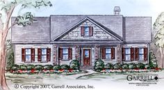 Crestview House Plan # 99181, Front Elevation, Ranch Style House Plans, Traditional Style House Plans, One Story House Plans