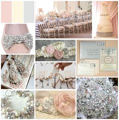 Would anyone like me to make them a theme/color/inspiration board? :  wedding board collage color inspiration palette scheme theme BlushIvoryGrey