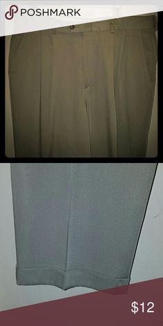 Haggar light tan dress pants with cuffs size 36x30 Haggar light tan dress pants with cuffs size 36x30 Haggar Pants Dress