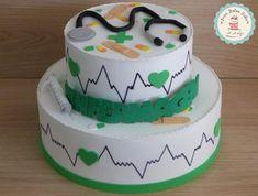 Bolo de Formatura Enfermagem branco e verde Desserts, Food, Nursing Party, Girl Birthday Cakes, Theme Cakes, Stone Crafts, Toddler Boy Birthday, Dessert, Pastries