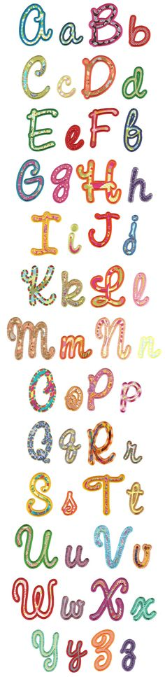 Embroidery | Machine Embroidery Designs | Sweet Script Applique Alphabet