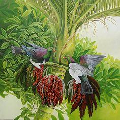 A Pair of Kereru by Craig Platt Nz Art, Art For Art Sake, Bird Artists, New Zealand Art, Feather Painting, Decoupage, Wildlife Art, Art Festival, Animal Paintings