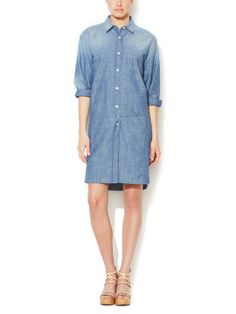 Chambray Belted Shirtdress  by See by Chloe