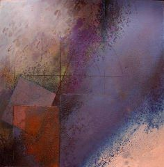 reticent sky | gyorgy kepes . oil and sand on canvas